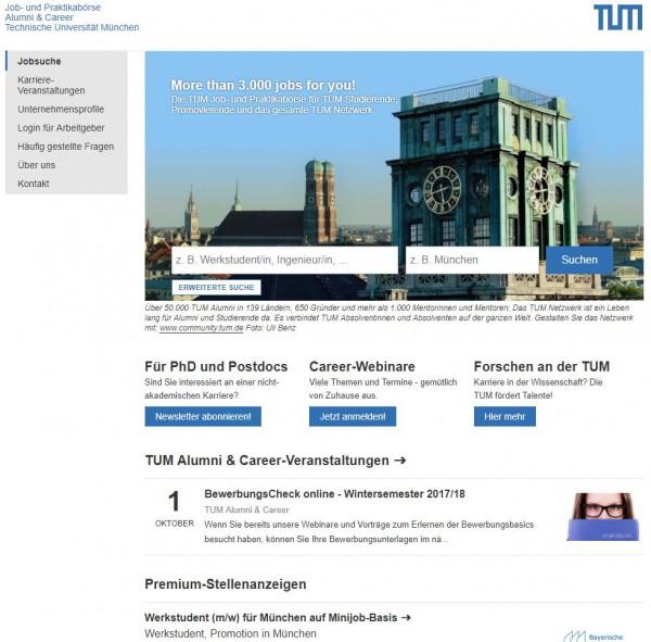 TU München - Career Service