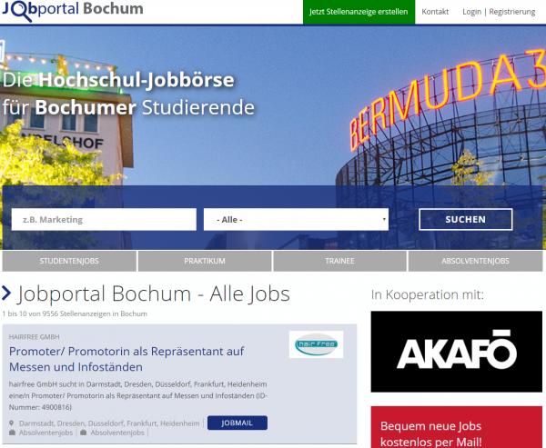 Flat Jobportal Bochum - bis 10