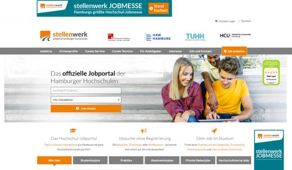 Uni Hamburg, TU Hamburg, HAW Hamburg und HCU Hamburg (Stellenwerk) - Studenten