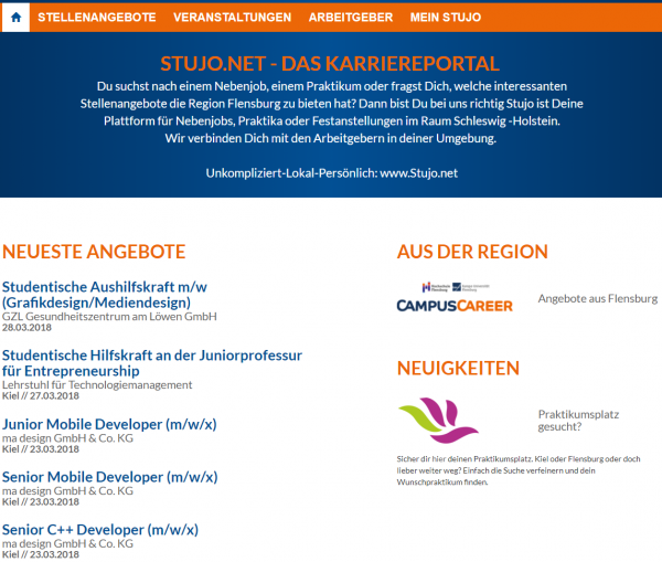 FH Flensburg (Campus Career- Stujo-net) - Studenten