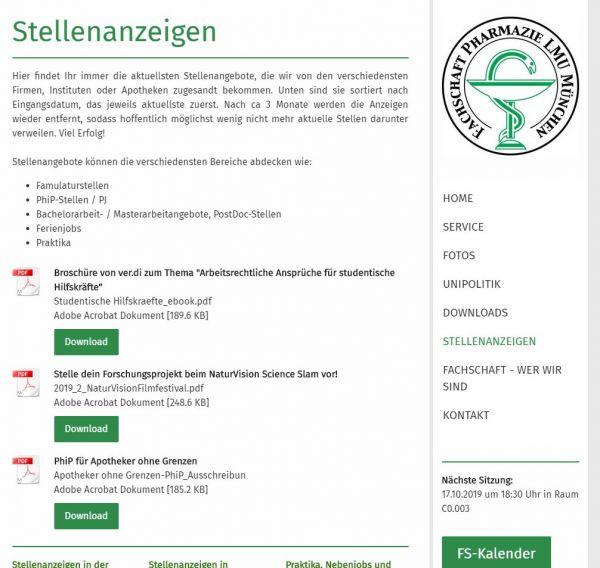 LMU München - Fachbereich Pharmazie