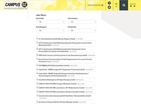 CAMPUS 02 - FH der Wirtschaft Graz (Career Service)