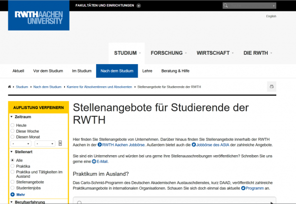 RWTH Aachen - Career Center