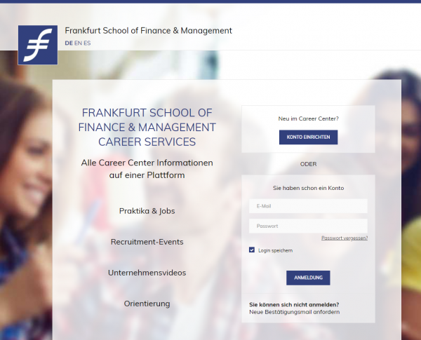 School of Finance & Management Frankfurt (Career Service) - Praktikanten