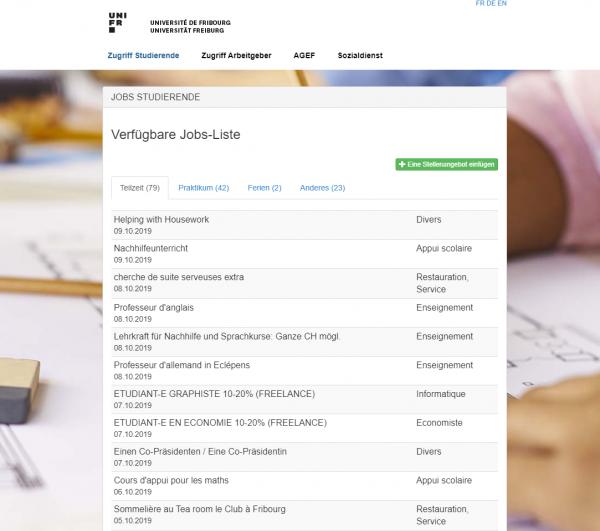 Uni Freiburg (CH) - Career Service