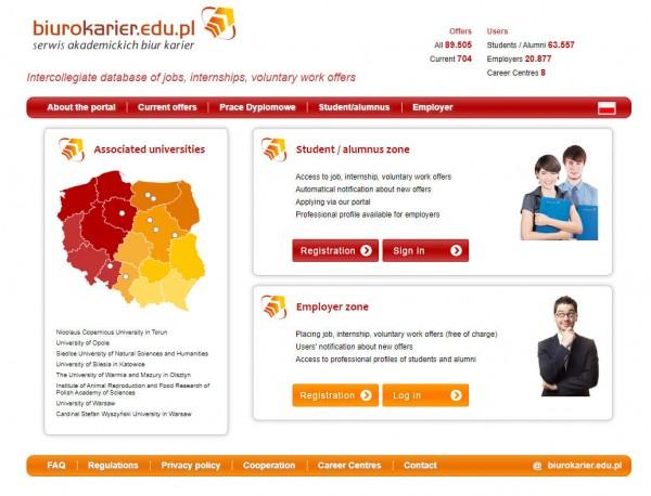 Uni Warschau - Biuro Karier