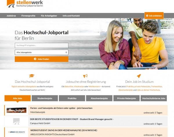 HU, TU, FU, HTW und HWR Berlin - Stellenwerk