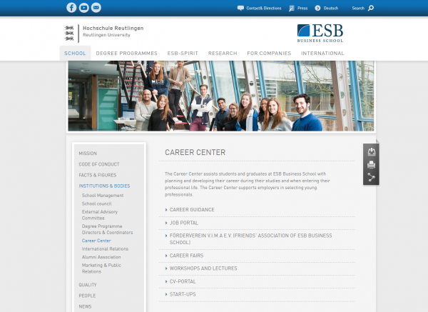 ESB Reutlingen (Career Center)