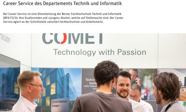 FH Bern (Fachbereich Technik und Informatik) (Career Service) - Studenten