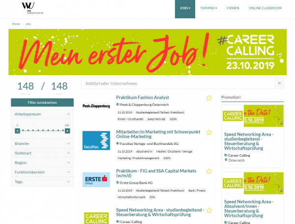 WU Wien - Career Center