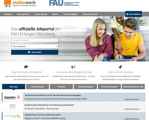 Uni Erlangen-Nürnberg (Stellenwerk) - Studenten
