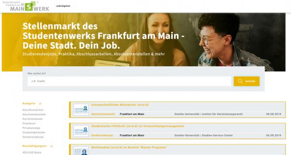 Studentenwerk Frankfurt/Main (DHW) - Studenten