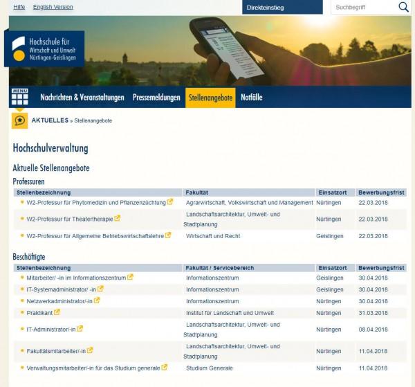 HfWU Nürtingen-Geislingen - Career Center