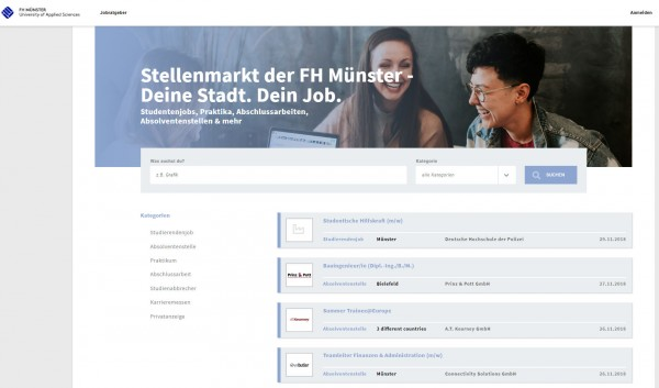 FH Münster - Stellenmarkt
