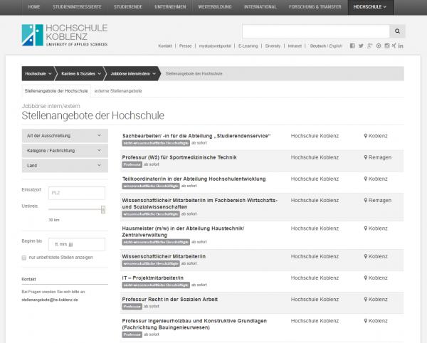 HS Koblenz (Career Center) - Studenten