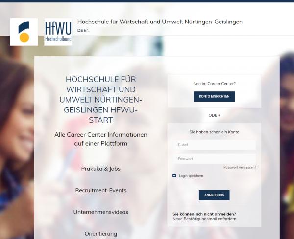 HfWU Nürtingen-Geislingen (HfWU-Start) - Praktikanten