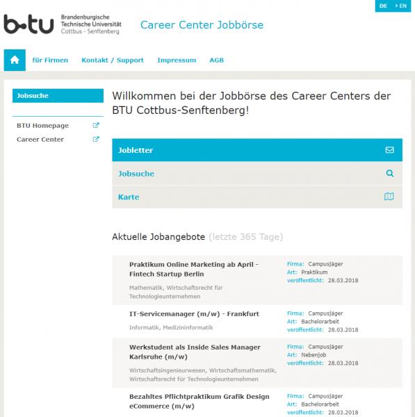 BTU Cottbus - Career Service