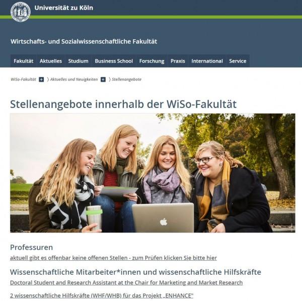 Uni Köln - WiSo-Career Service