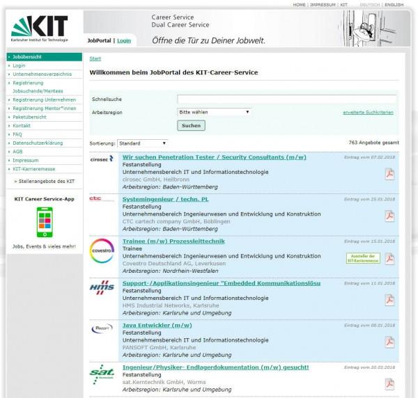 KIT Karlsruhe - Jobportal