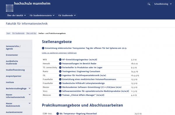 HS Mannheim - Career Center