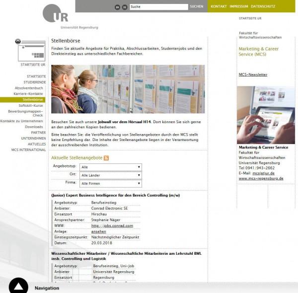 Uni Regensburg - Career Service