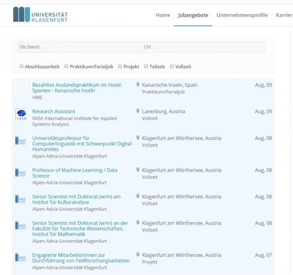 Uni Klagenfurt - Career Center