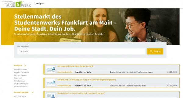 Studentenwerk Frankfurt am Main - Stellenmarkt