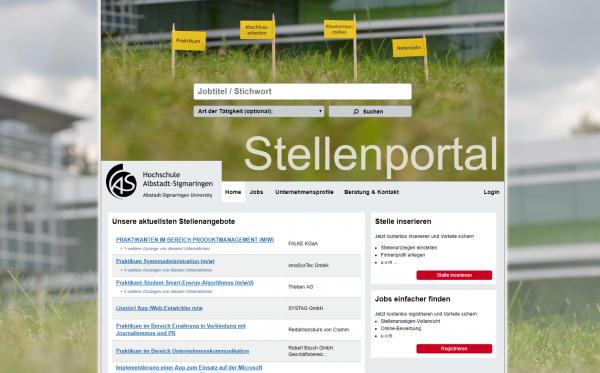 HS Albstadt-Sigmaringen (Career Center) - Praktikanten