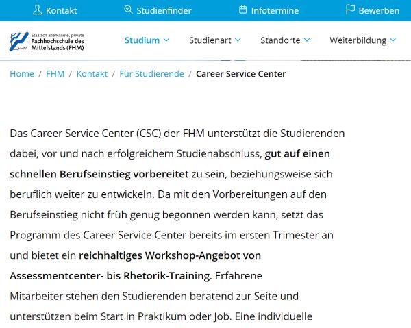 Uni Bamberg (ausgewählte Fachbereiche) - Studenten