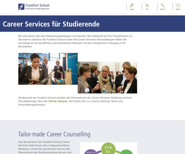 School of Finance & Management Frankfurt - Career Service