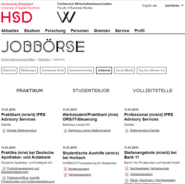 HS Düsseldorf (Career Service) - Studenten