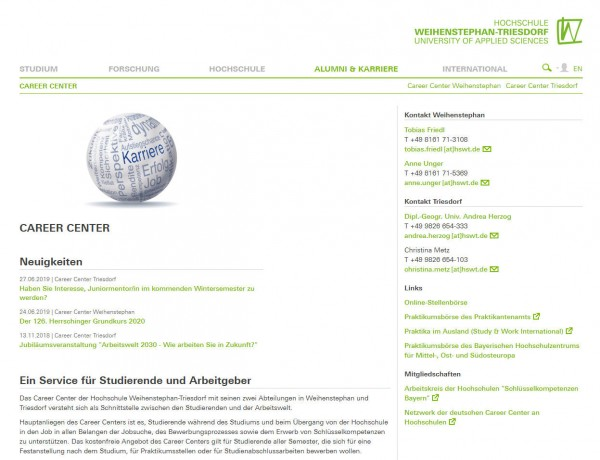 HS Weihenstephan-Triesdorf - Career Center