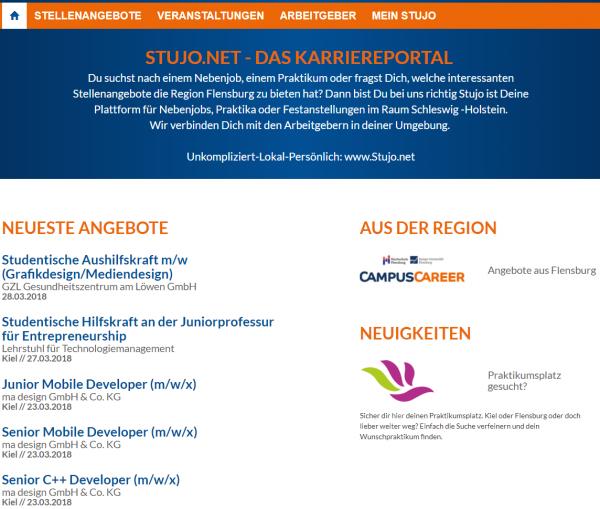 Uni Flensburg (Campus Career- Stujo-net) - Studenten