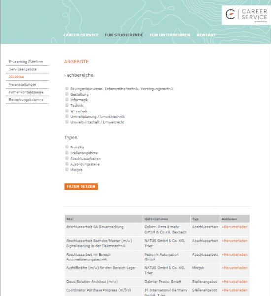 HS Trier (Career Service) - Studenten