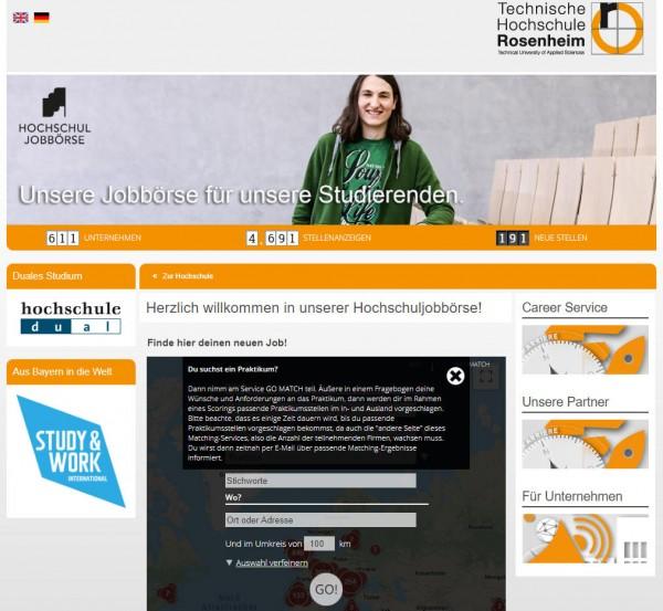 TH Rosenheim - Hochschul-Jobbörse