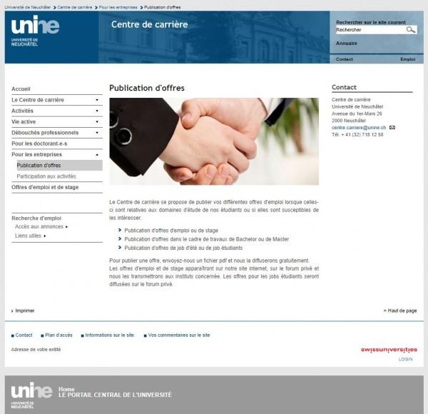Uni Neuenburg - Career Center