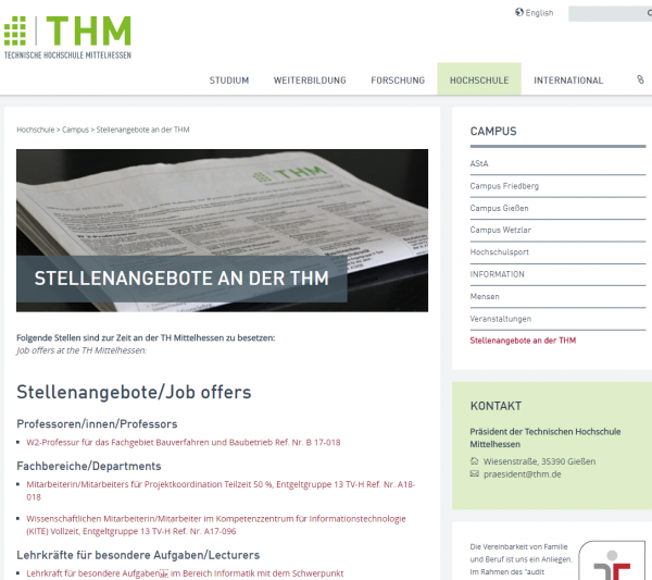TH Mittelhessen - Career Center