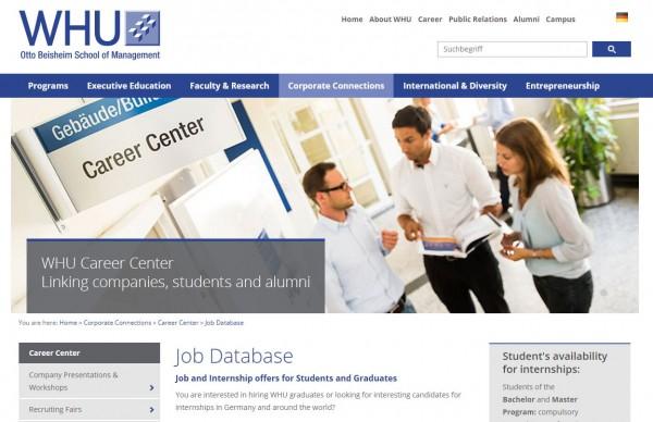 WHU Düsseldorf - Career Center