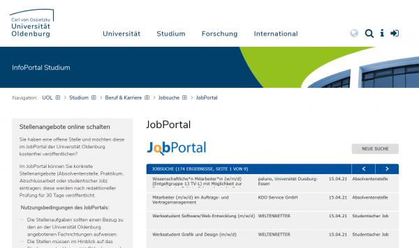 Uni Oldenburg (Career Service) - Studenten