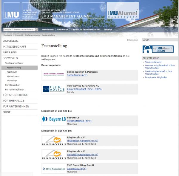 LMU München (BWL Alumni) - Studenten